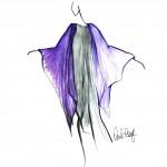 long navy shawl and dress
